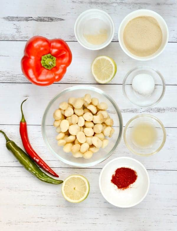 Vegan queso sauce ingredients