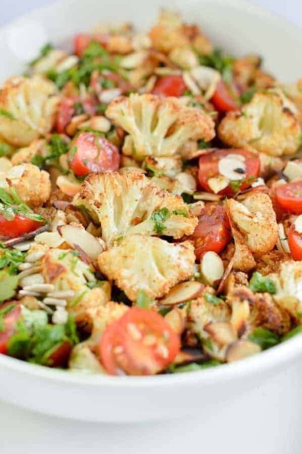 Keto Roasted cauliflower Salad