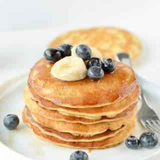 Chickpea Flour pancakes sweet