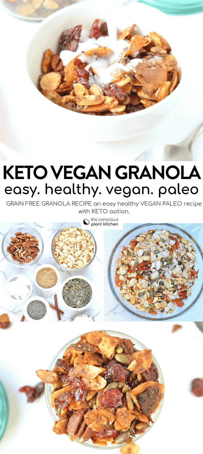 Keto vegan granola