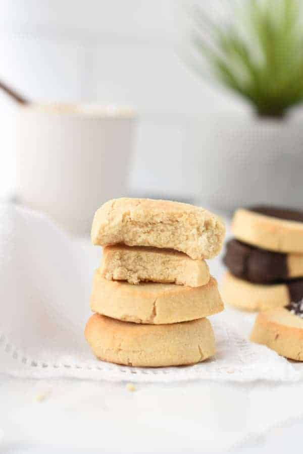shortbread made with coconut flour