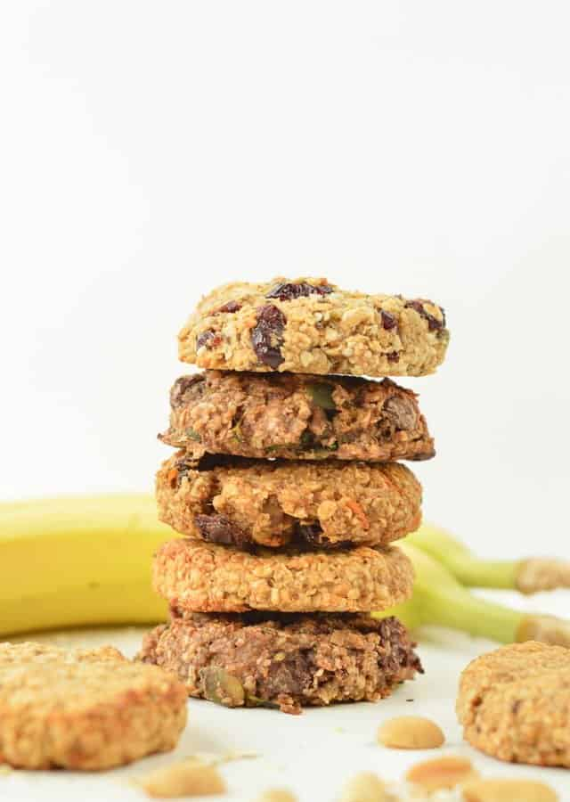3 INGREDIENTS BANANA PEANUT BUTTER COOKIES 4 WAYS, no eggs #veganbaking #vegancookies #veganglutenfree #veganeasy #easy #glutenfreebaking #grainfree #healthybaking #delicioushealthyrecipes #cleaneating #3ingredients #veganbaking #healthyvegan #healthyveganrecipes #healthyvegandiet #howtobeahealthyvegan #healthy