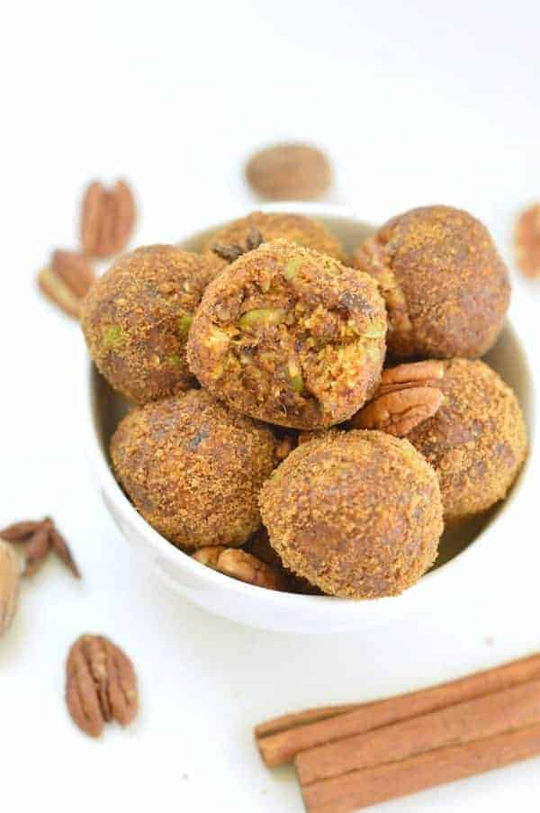 NO BAKE PUMPKIN ENERGY BALLS vegan healthy snacks #nobake #healthysnacks #nopeanutbutter #paleo #easy #vegan #dates#rawbaking #healthyveganbaking #veganbaking #veganbread #veganglutenfree #glutenfreebaking #grainfree #healthybaking #delicioushealthyrecipes #cleaneating #easy #veganbaking #healthyvegan #healthyveganrecipes #healthyvegandiet #howtobeahealthyvegan #healthy