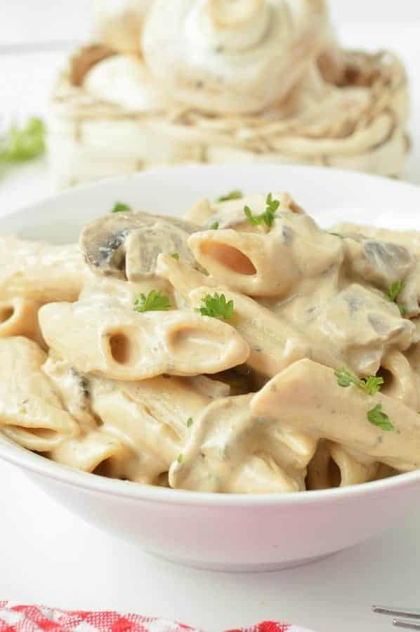 Vegan Creamy Mushroom Pasta The Conscious Plant Kitchen