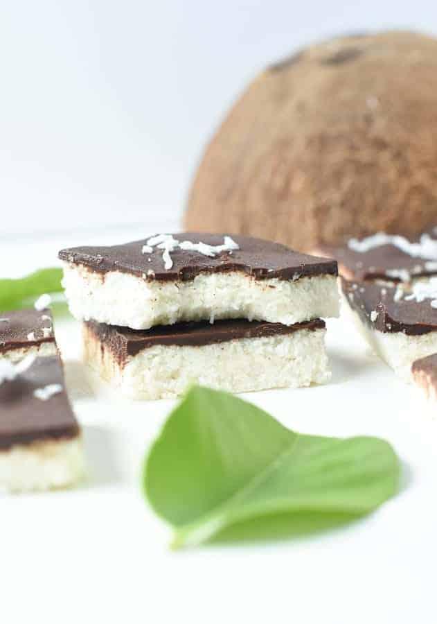 easy no bake coconut bars