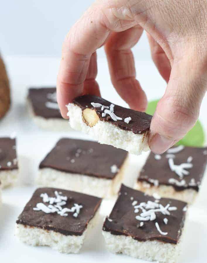 No bake almond joy cookies