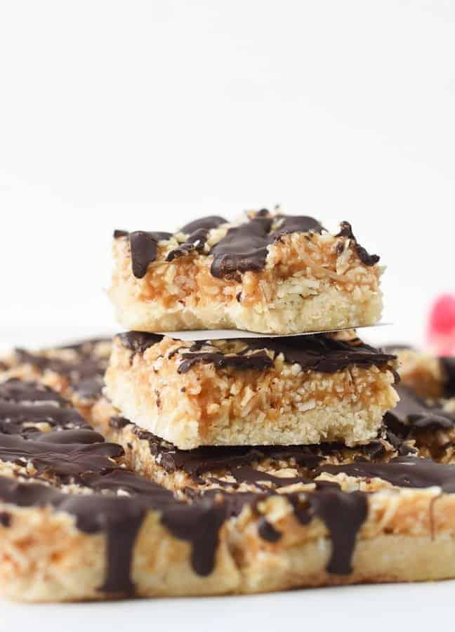 No bake healthy samoa bars