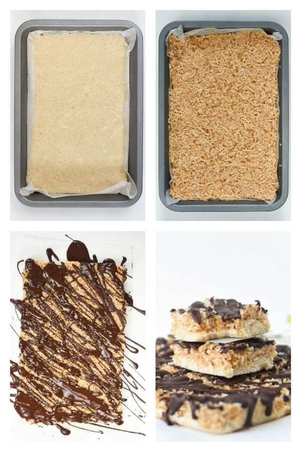 how to make no bake samoa bars