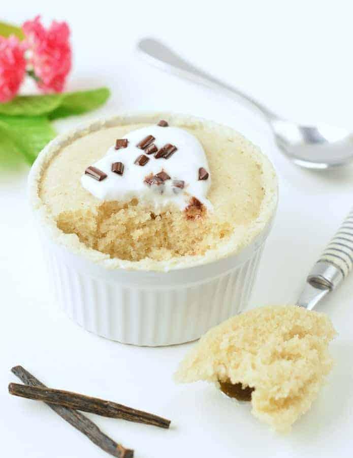 Vegan vanilla mug cake no egg, no milk - The Conscious ...