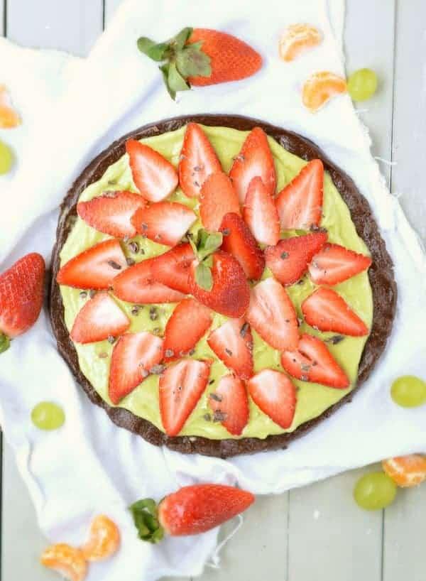 No Bake strawberry tart
