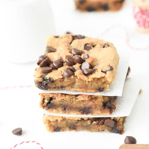chickpea blondie brownies