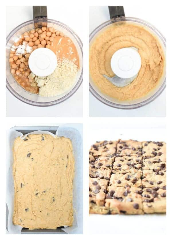 How to make chickpea blondies