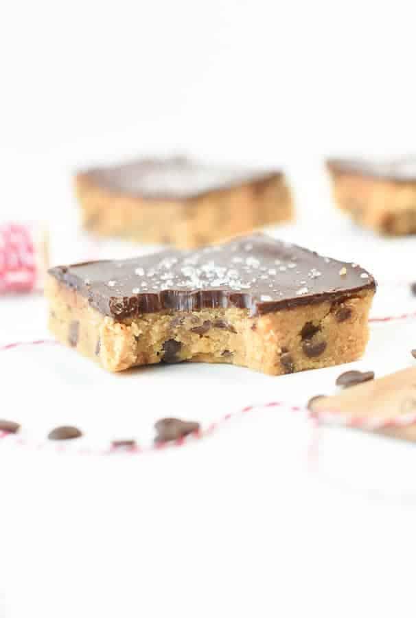 No bake cookie dough protein bars