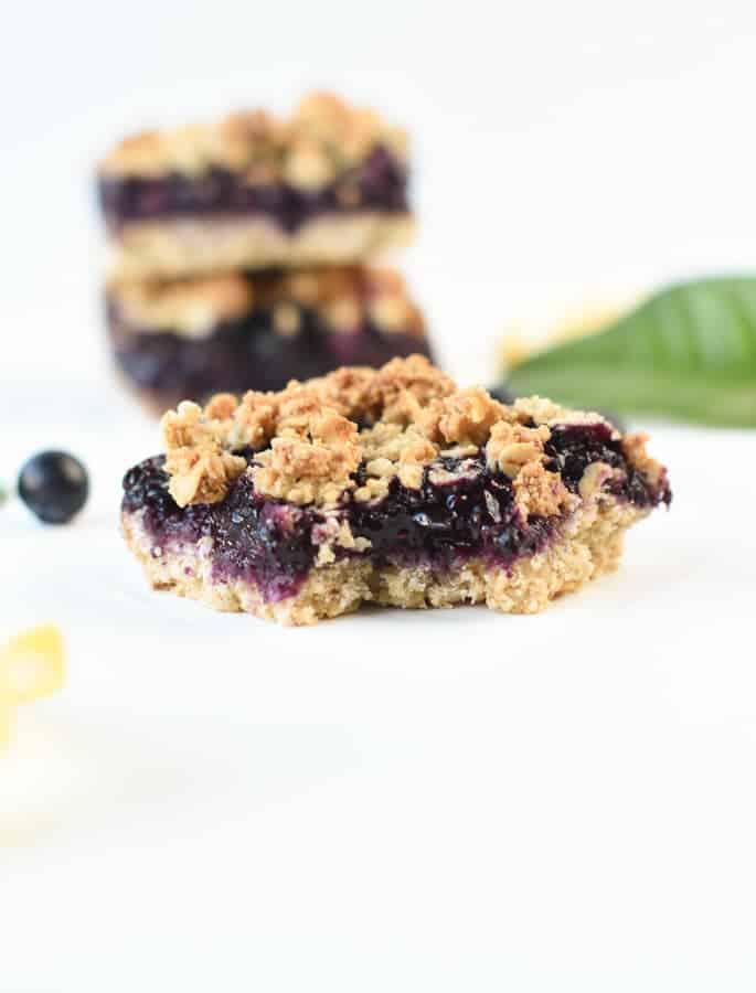 Gluten free blueberry breakfast bars
