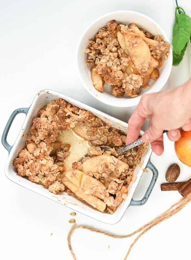 Vegan gluten free apple crisp recipe