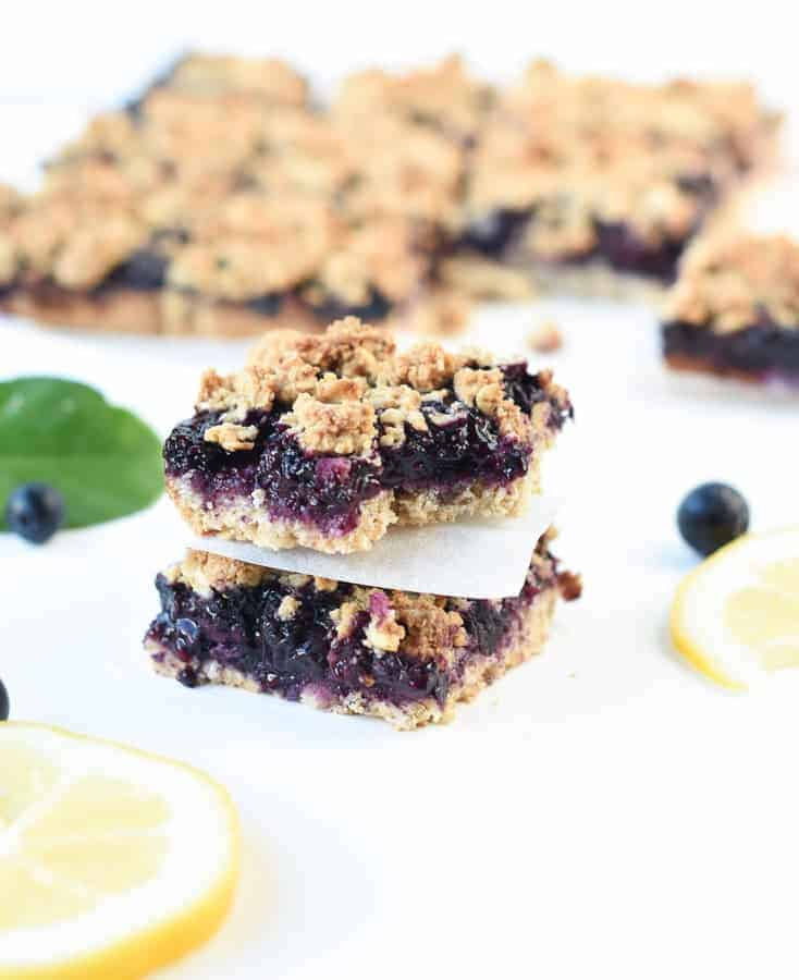 blueberry crumble breakfast bars