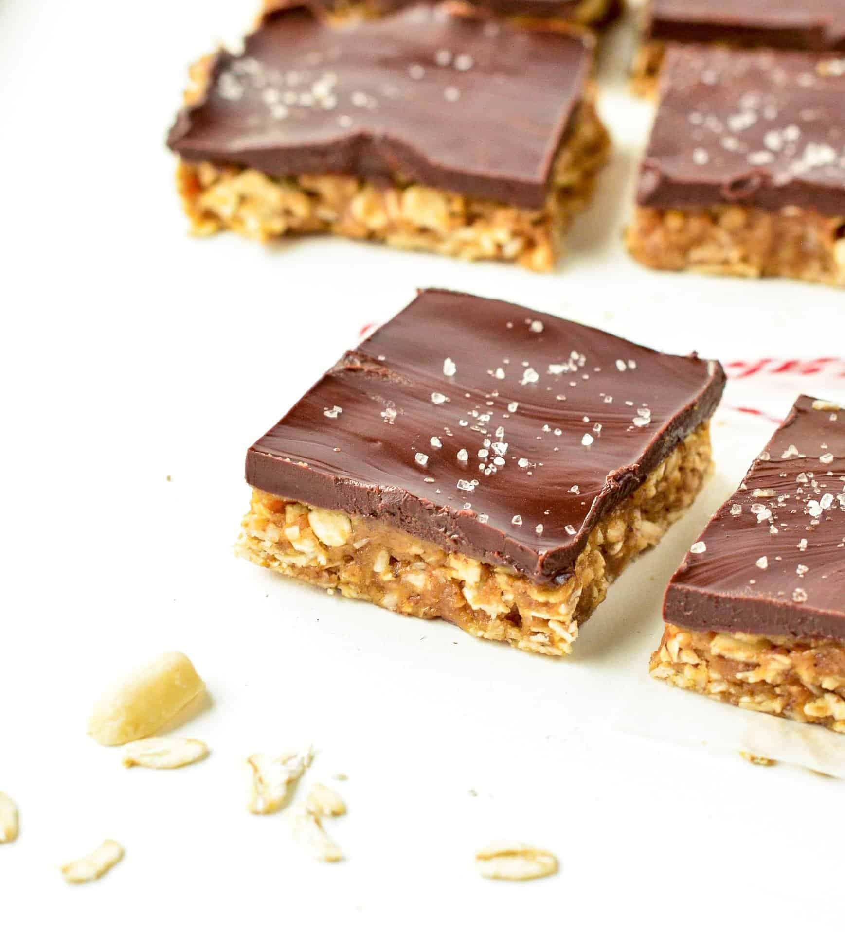 Healthy No Bake Peanut Butter Oatmeal Bars