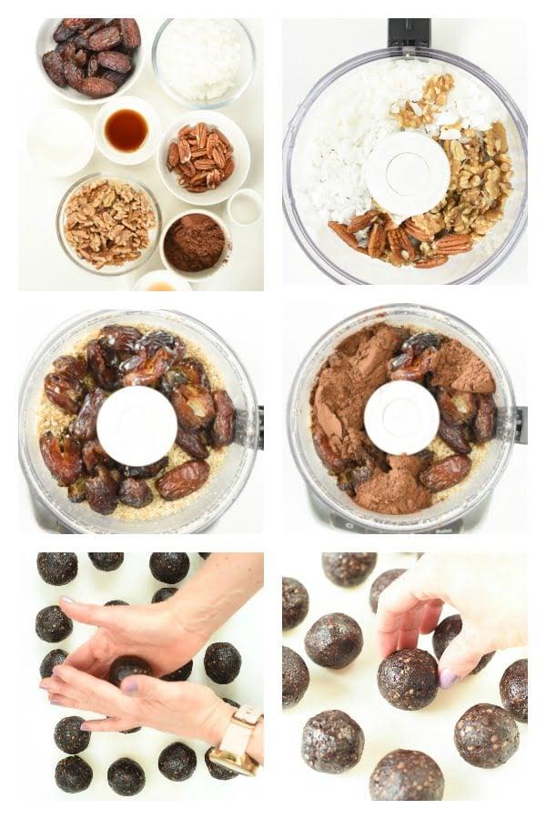 How to make vegan no bake brownie bites