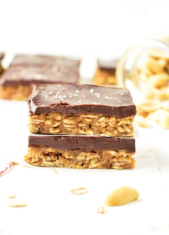 No Bake Peanut Butter Oatmeal Bars