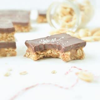 healthy no bake oatmeal peanut butter bars