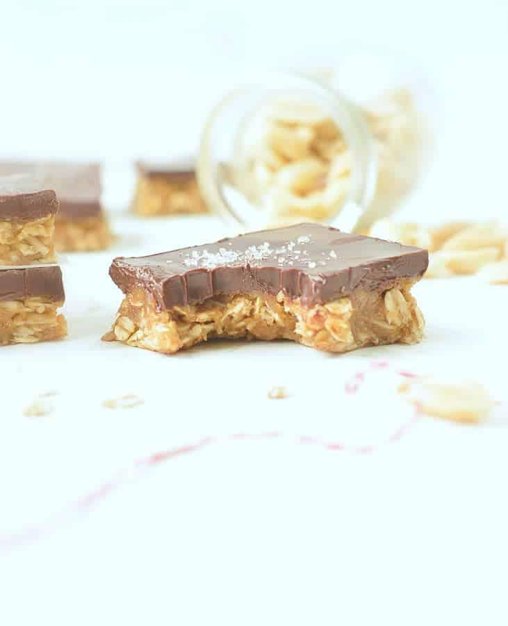 healthy peanut butter oatmeal bars no bake