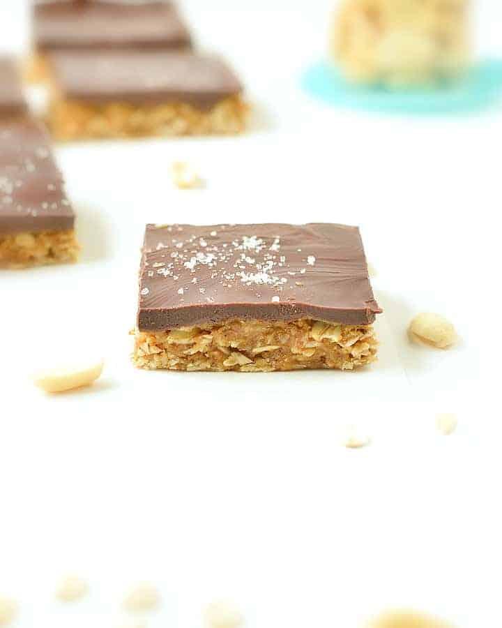 vegan oatmeal peanut butter bars