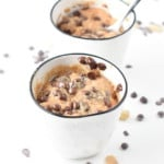 Easy Healthy Peanut Butter Mug Cake with Chocolate Chips