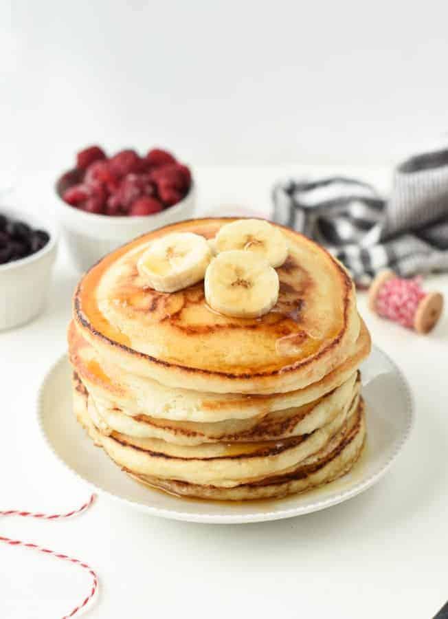 the BEST Easy Vegan pancake recipe