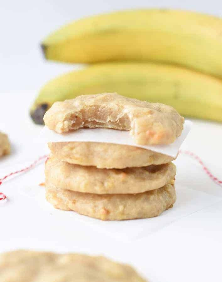 Cookies made with banana