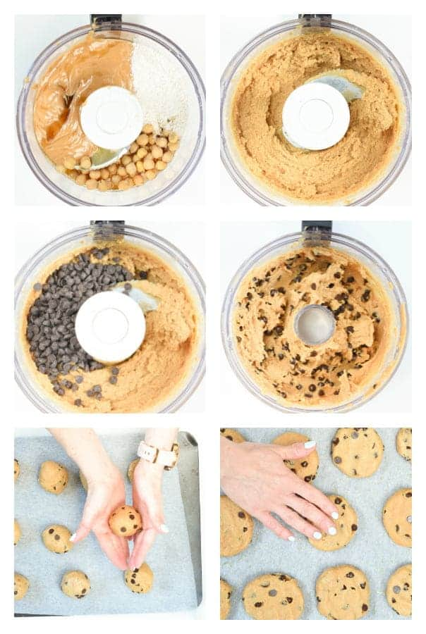 How to make chickpea peanut butter cookies