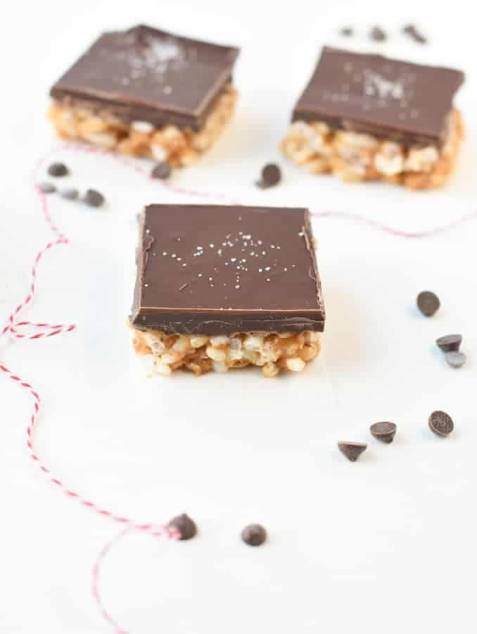 Healthy Peanut Butter Rice Crispies Bars