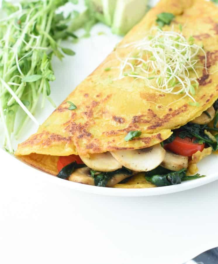 Vegan besan flour omelette