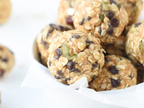 healthy no bake oatmeal balls