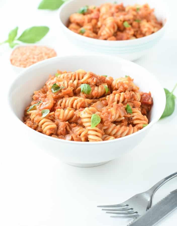 red lentil italian pasta