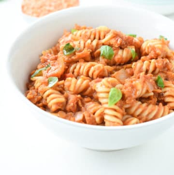 red lentil pasta easy dinner