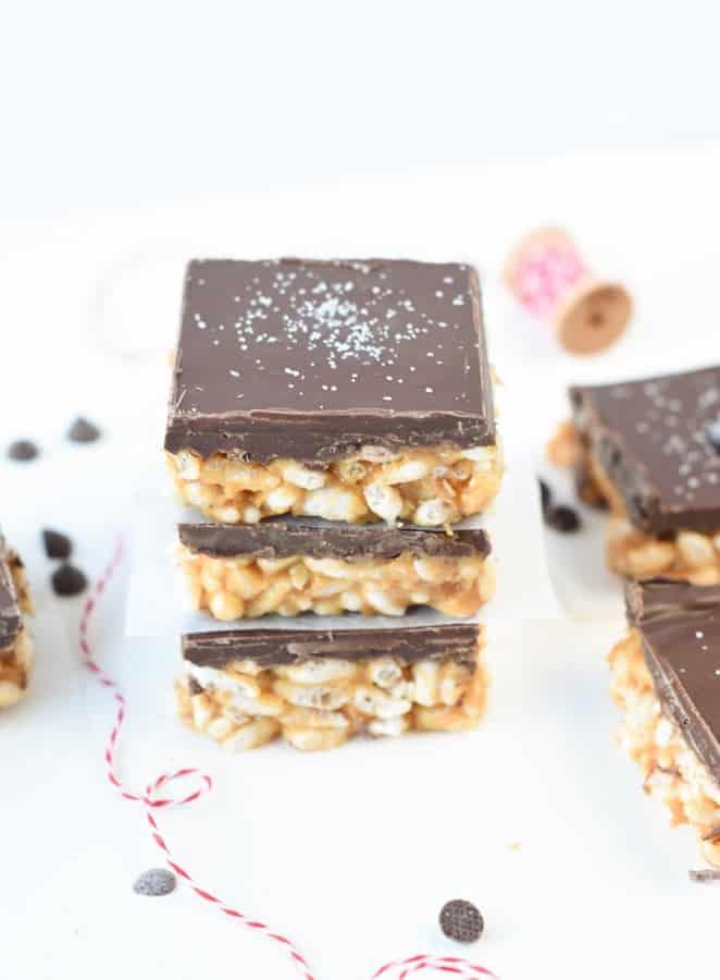vegan chocolate peanut butter rice crispy treat