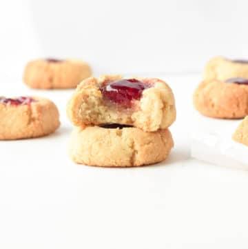 Almond flour thumbprint cookies HEALTHY, Easy, Vegan