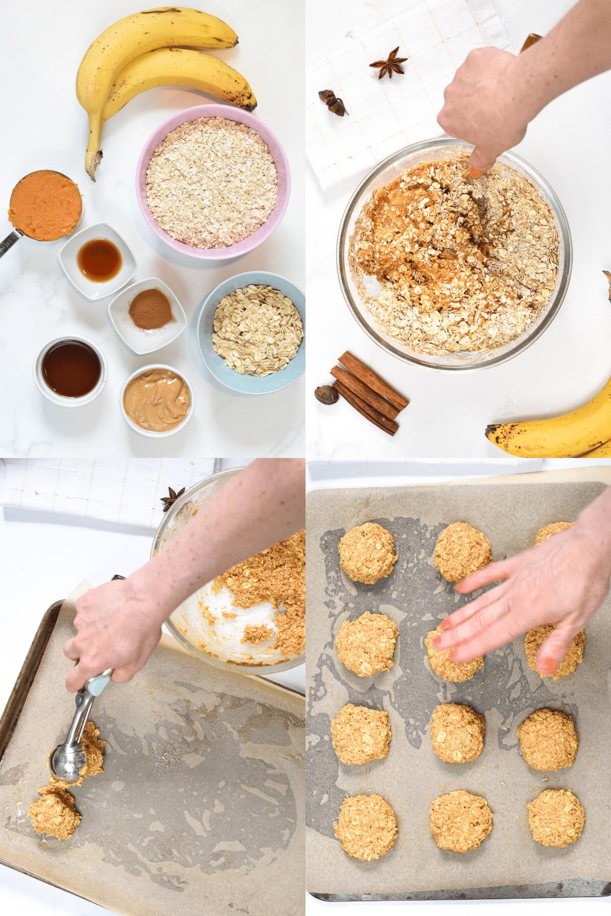 Pumpkin Banana Cookies