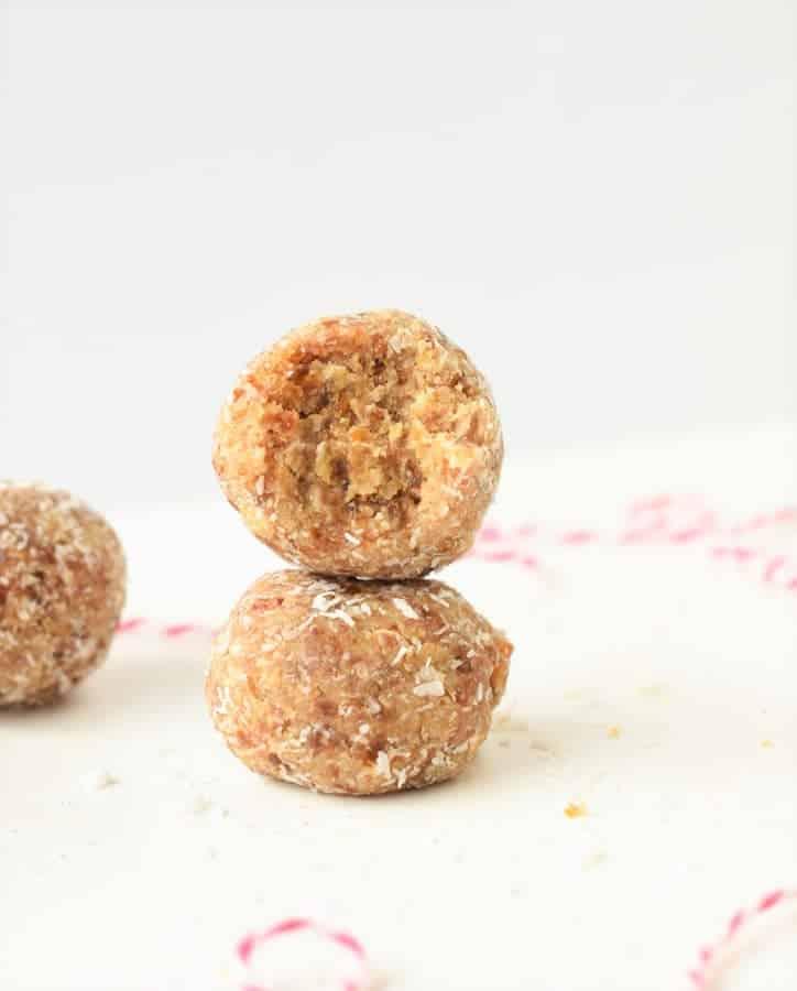 Salted caramel bliss balls Vegan, healthy snack