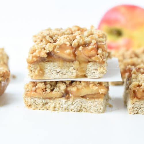 Vegan apple bars