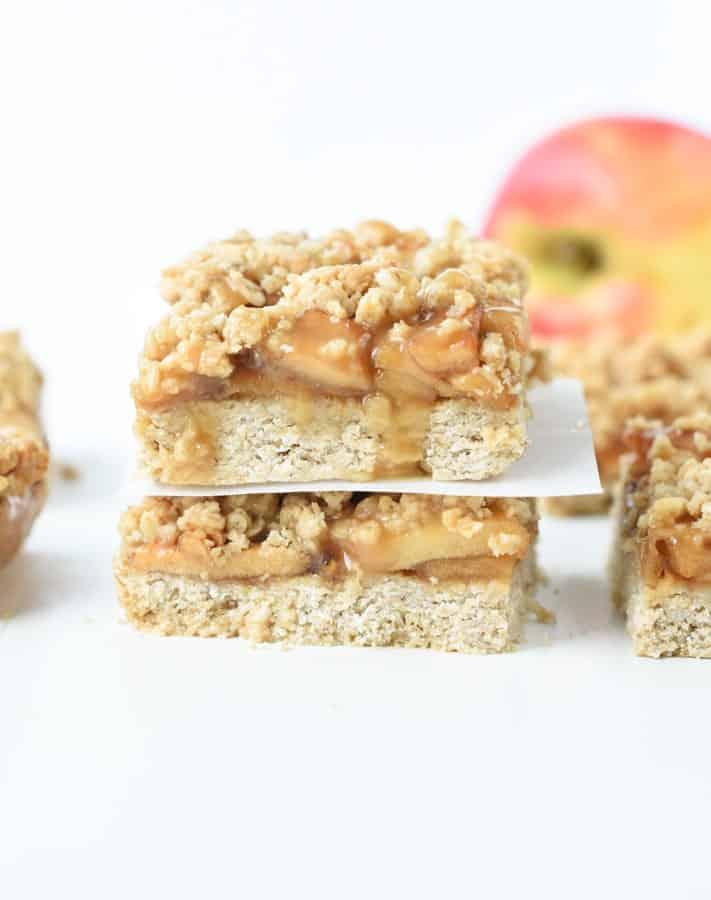 Vegan apple bars
