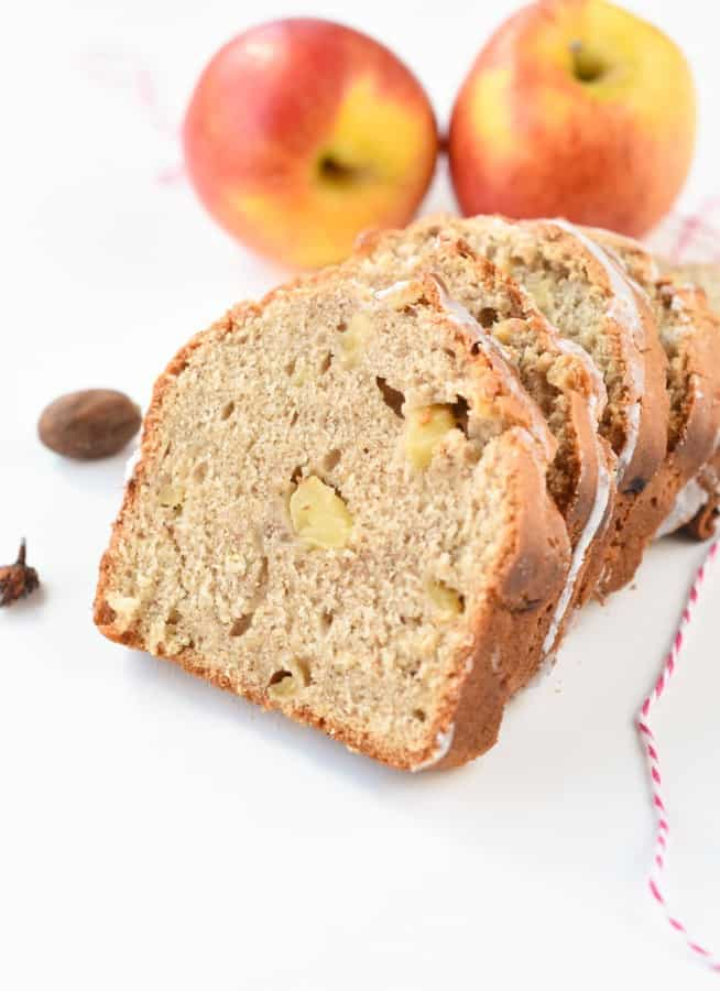 Vegan apple banana bread