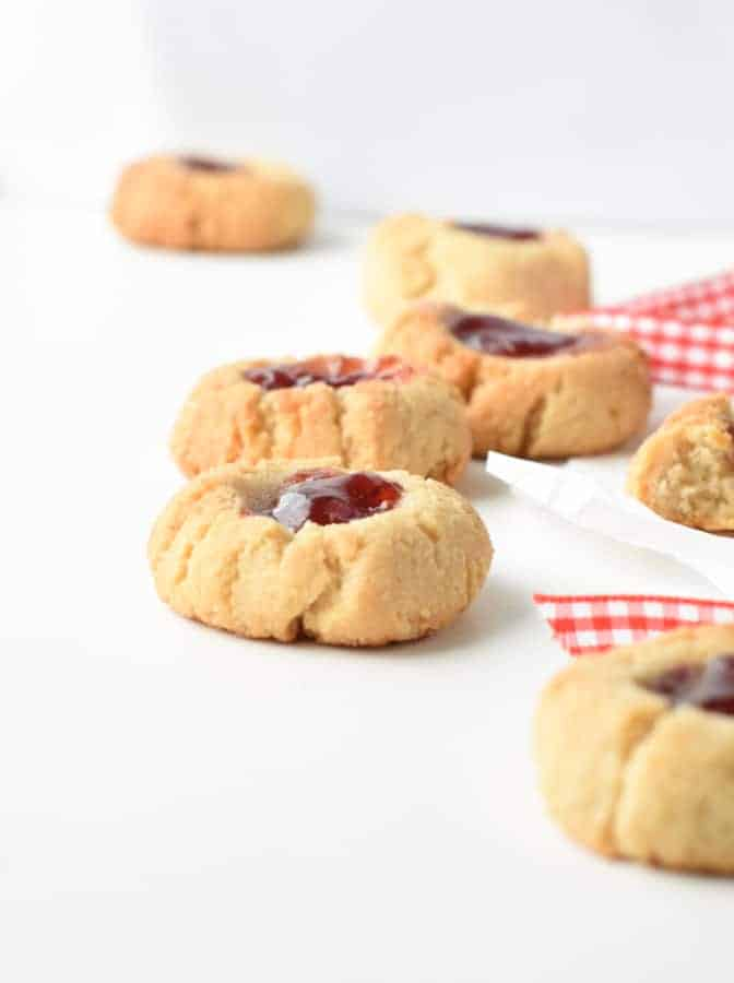 Vegan gluten free thumbprint cookies