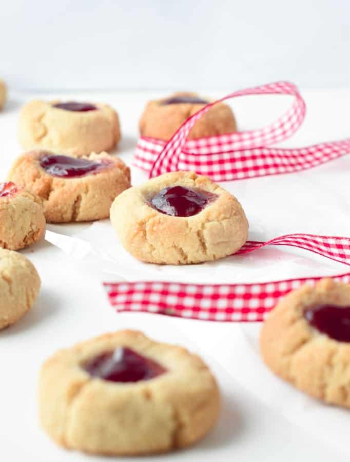 gluten free almond flour thumbprint cookies