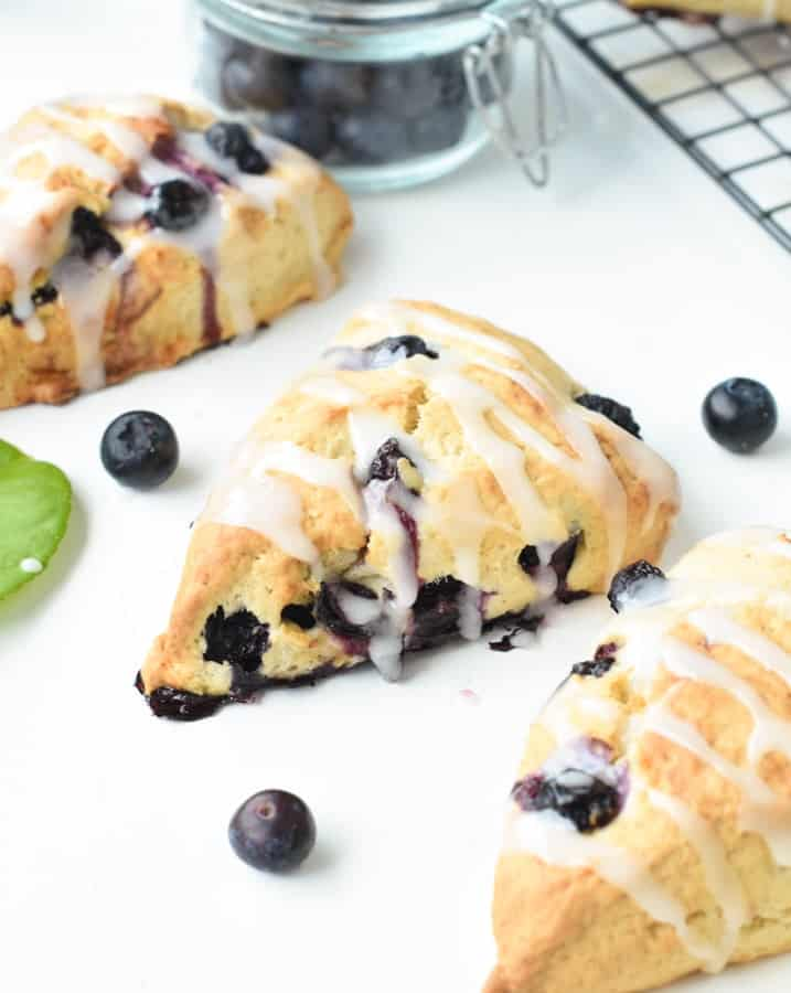 Easy Vegan blueberry scones