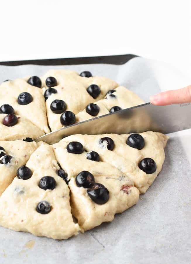 How to make vegan blueberry scones
