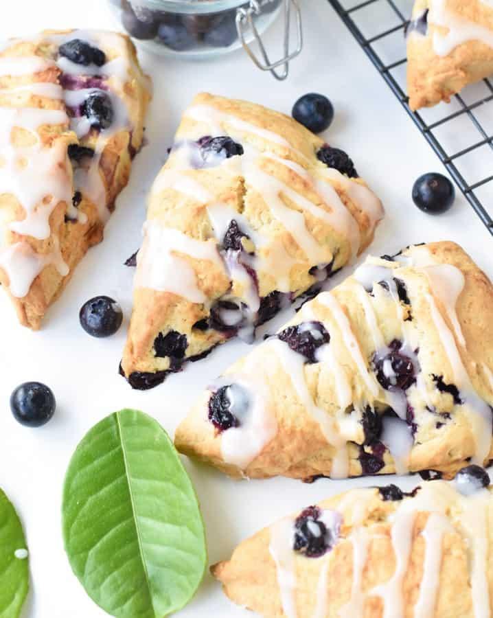 The best Vegan blueberry scones