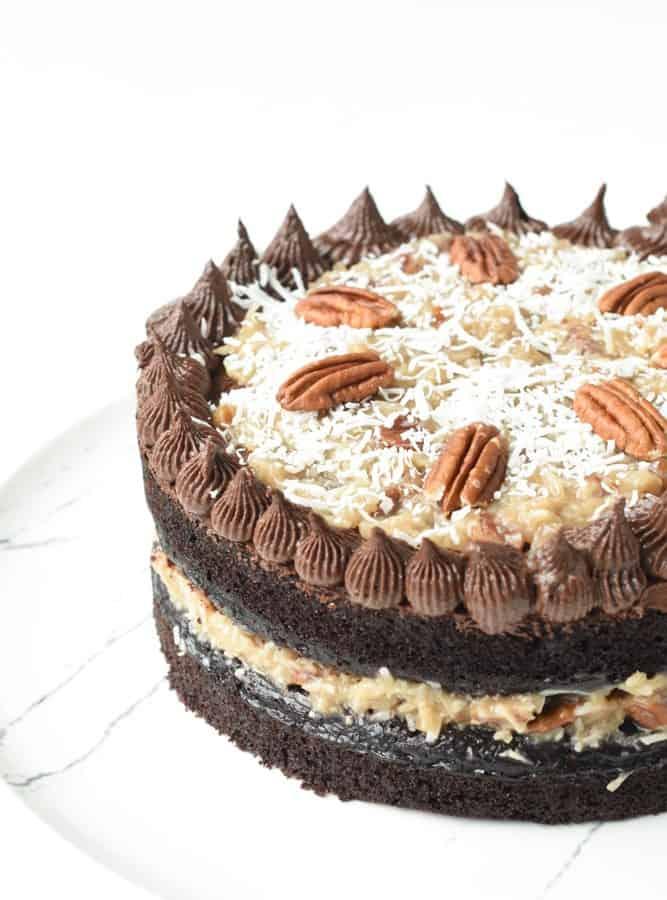 Vegan German Chocolate Cake