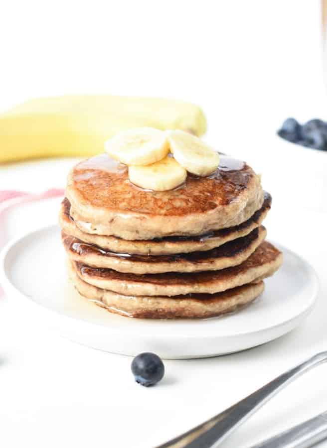 Vegan banana oat pancakes-10