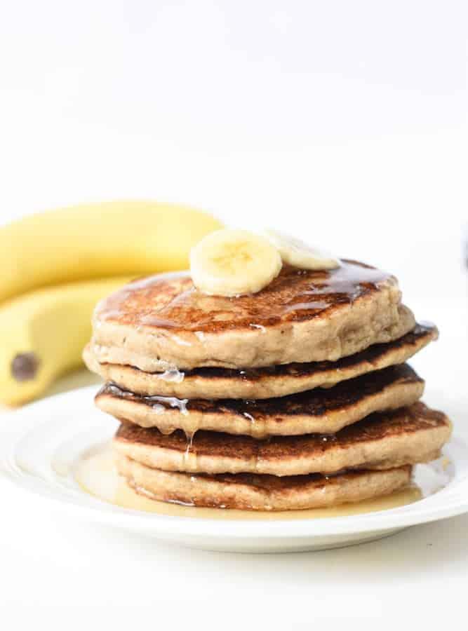 oats and banana pancakes vegan